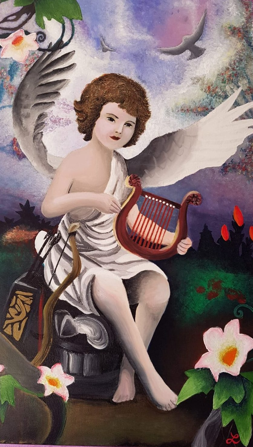 dipinto angelo - Lisa Ingoglia